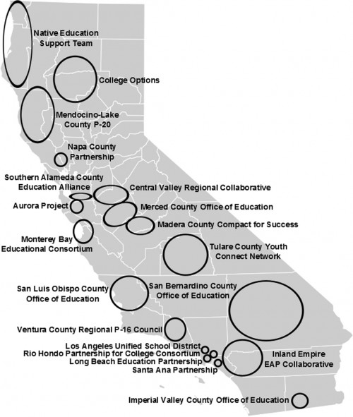 Map of ARCHES Collaboratives